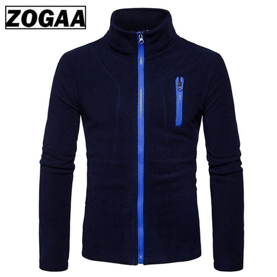 ZOGAA 2019 Men Sports Casual Wear Zipper New Fashion Tide Jacquard Hoodies Fleece Jacket Fall Sweatshirts Autumn Spring Jacket in Hoodies amp Sweatshirts from Men 39 s Clothing