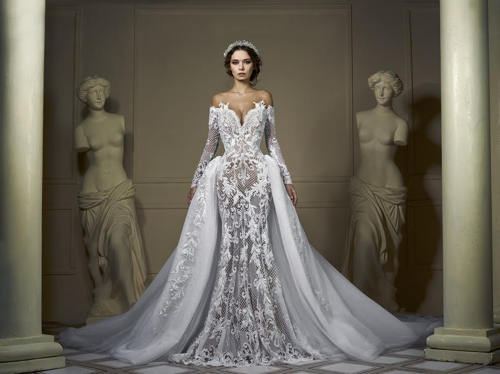 Eslieb Illusion High End Sexy Wedding Dress 2019 Button
