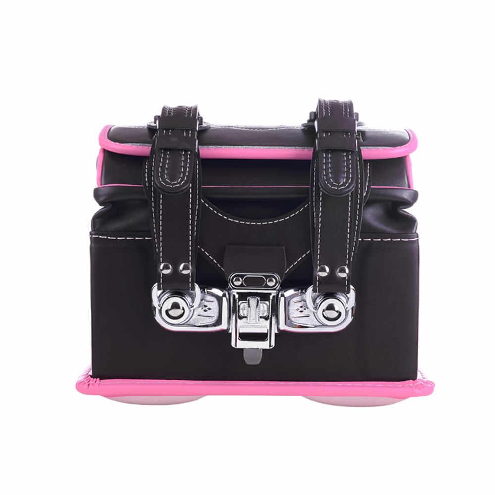 Кулоновского Randoseru детская школьная сумка Малыш ПУ Твердые Засов детская ортопедический рюкзак для девочек и мальчиков Япония студент рюкзак