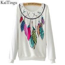 KaiTingu marque 2017 nouvelle mode automne femmes à manches longues flanelle survêtement à capuche capteur de rêves imprimer Pullover décontracté sweat shirt