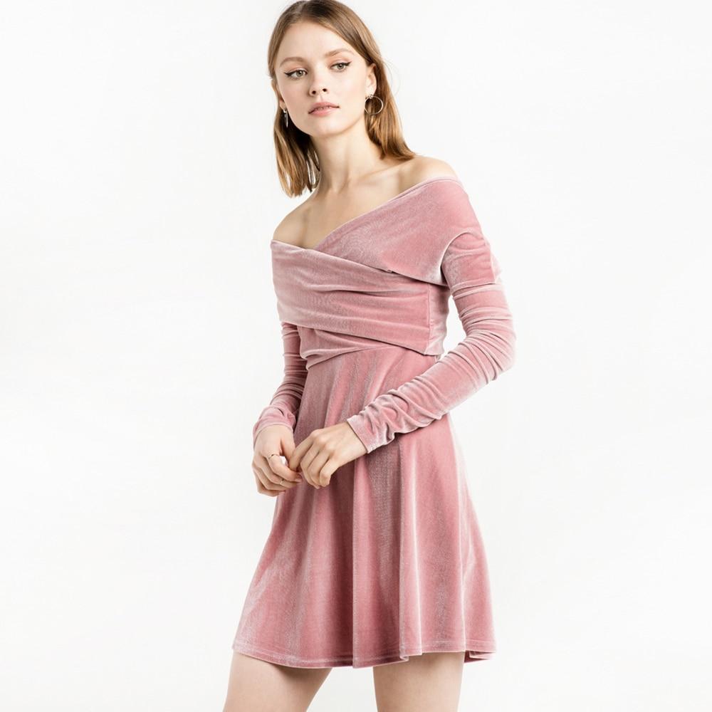 IRISIE Apparel Light Pink Sweet Velvet Dress Women Clothing Casual Wrap  Bodycon Dress Cute Spring Preppy Chic Female Vestido-in Dresses from Women s  ... 58af0e3d8