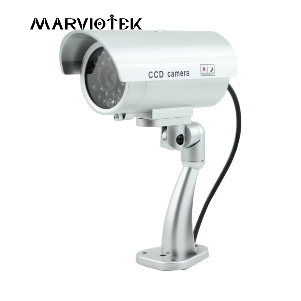 Fake Camera Waterproof Dummy CCTV Camera With Flashing LED Light For Outdoor Indoor Realistic Looking fake Camera for Security