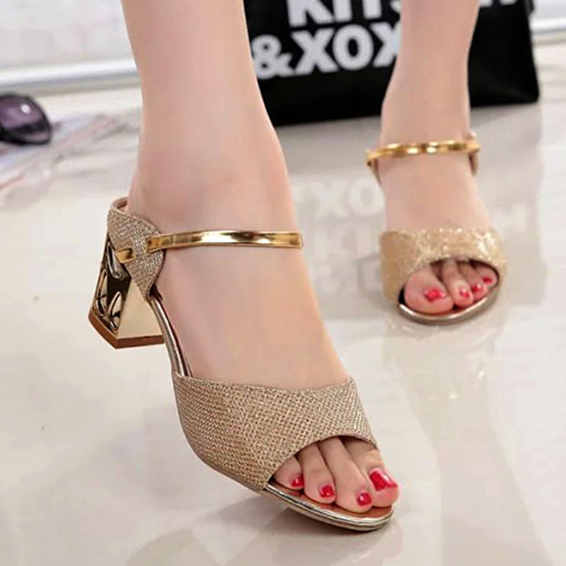 High Heels Sandals Women Ankle-Wrap Shoes Women Gold Sliver Summer Sandals Open Toe Women ShoesHigh Heels Sandals Women Ankle-Wrap Shoes Women Gold Sliver Summer Sandals Open Toe Women Shoes