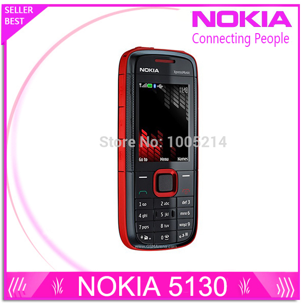 Восстановленное в Исходном Nokia 5130 XpressMusic Русская Клавиатура Мобильного Телефона Музыки Телефон бесплатная доставка