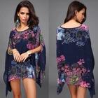 Save 0.47 on Brand Fashion Casual Femininas Women Dress Ladies Chiffon Quality Summer Style Print Tropical Summer Dress Vestidos De Festa