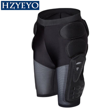 HZYEYO Breathable Motocross Knee Protector Motorcycle Armor Shorts Skating Extreme Sport Protective Gear Hip Pad Pants P 01