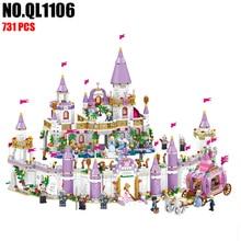 NEW 731pcs Dream Shadow City Of Windsor Castle Princess Compatible LELE Building Blocks girls diy assembly