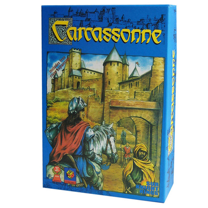 Carcassonne,  Board Game 2-5 Players Cards Game For Party/Family/Friends Easy To Play With Free Shipping castles of burgundy board game 2 4 players cards games send english instruction funny game for party family with free shipping