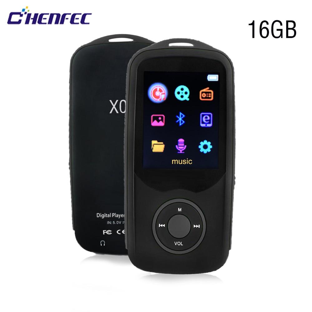 Sd Karte Hart Arbeitend Mp3 Player Bluetooth 4,0 16g Tragbare Audio Verlustfreie Musik-player Unterstützung Fm Recorder 1,8 Zoll Bildschirm X06