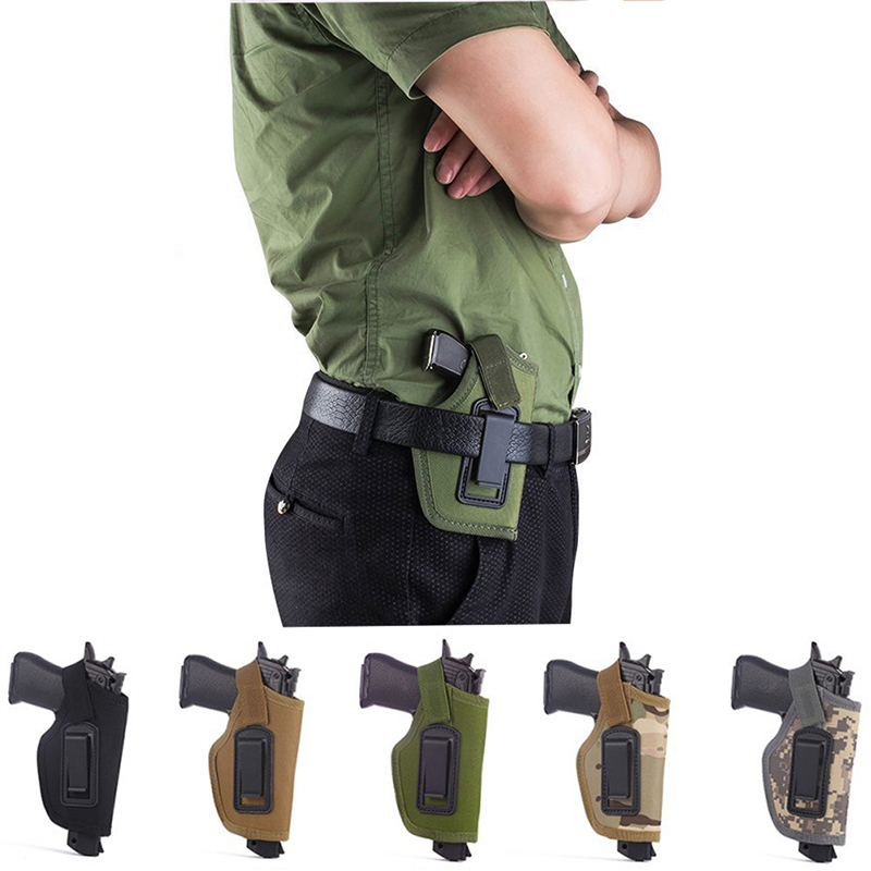 Nylon Universal Pistol Case Tactical Small Holster Compact / Subcompact Pistol Holster Waist Case Hunting Accessories