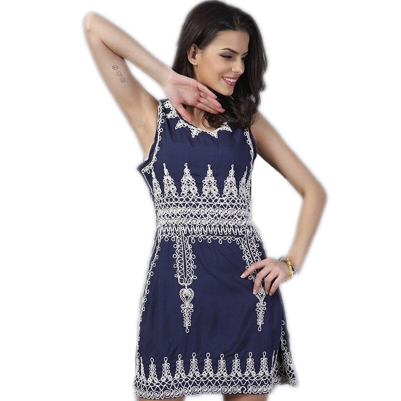 2e4ac4bf4 Bordado vestido de verano de moda imprimir 2016 verano estilo vintage  vestidos de festa femininas mujeres vestido de señoras ropa