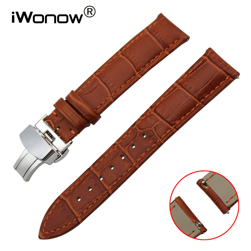 Top Layer Calf Genuine Leather Watchband 18 20 22mm Quick Release Watch Band Croco Pattern Strap Wrist Belt Bracelet Black Brown lucky john croco spoon big game mission 24гр 004