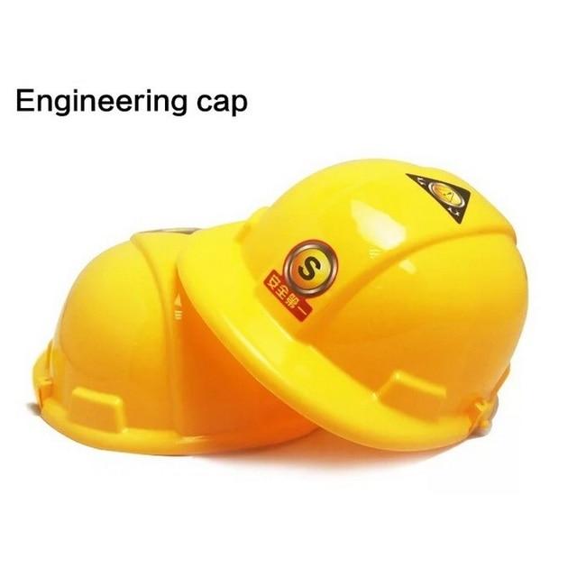 Children Engineering Cap Cosplay Engineer Construction Kids Size Plastic Toy Birthday Gifts