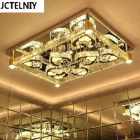 Led Living Room Lamps Rectangle Crystal Lighting Modern Brief Ceiling Light High Quality Luxury Air Bubble