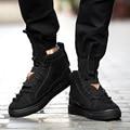 2017 Nuevo Estilo Británico Altos Tops Zapatos de Hip Hop Zapatos Casuales los hombres Calientes Del Invierno Zapatos De Hombre Botines de Suela de Goma
