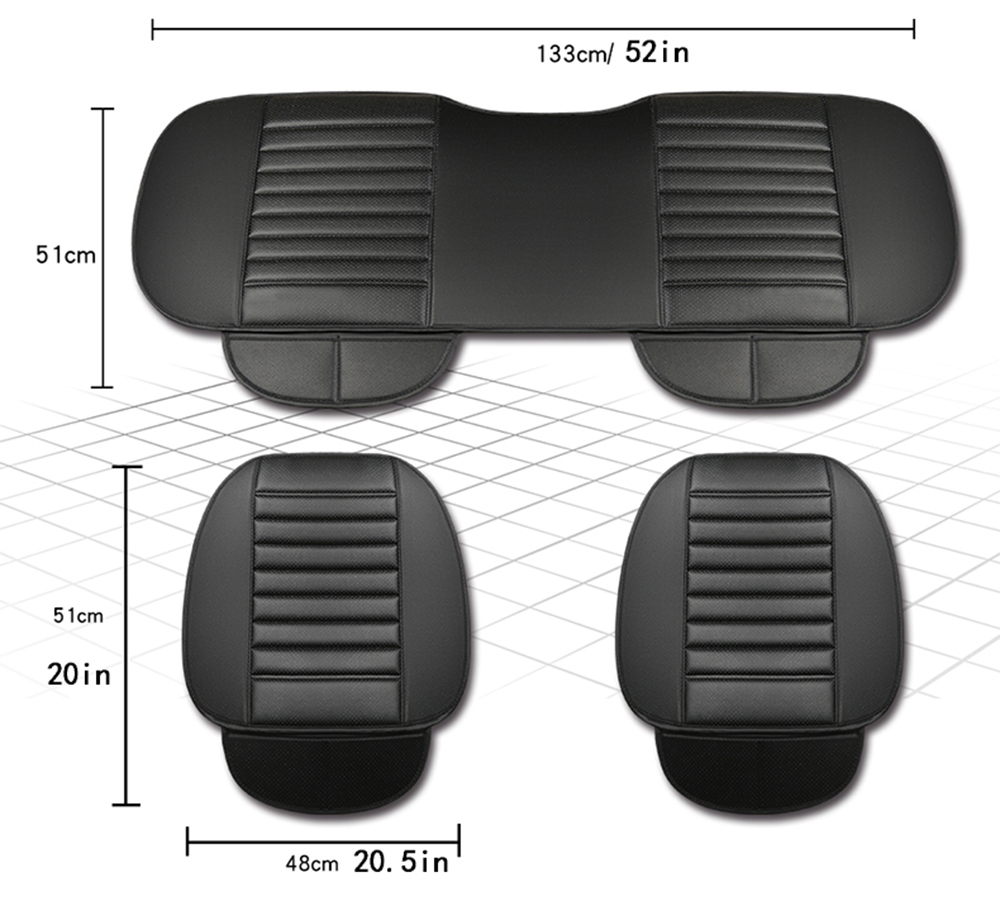 Ultra Luxury Car Seat Protection Single Seat Without Backrest PU Senior Leather Car Seat Cover For