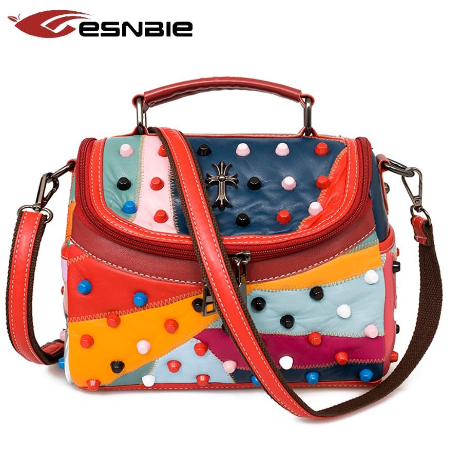 Luxury Women Genuine Leather Bag Sheepskin Messenger Bags Handbags Women Famous