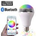 Frete Grátis RGBW lâmpada LED Sem Fio bluetooth speaker Áudio Speaker Música Jogando & Lighting Com APP