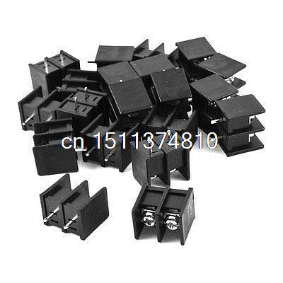 20Pcs 9.5mm Pitch PCB Screw Terminal Block 300V 25A for 22-12AWG Wire 20 pcs 126 3p 3pin 5mm pitch screw terminal block 300v 10a