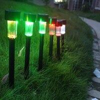 10 STKS Solar Tuin LED Landschap Licht Zonne-energie Outdoor Path Light Spot Lamp Tuin Gazon Landschap Verlichting Lamp