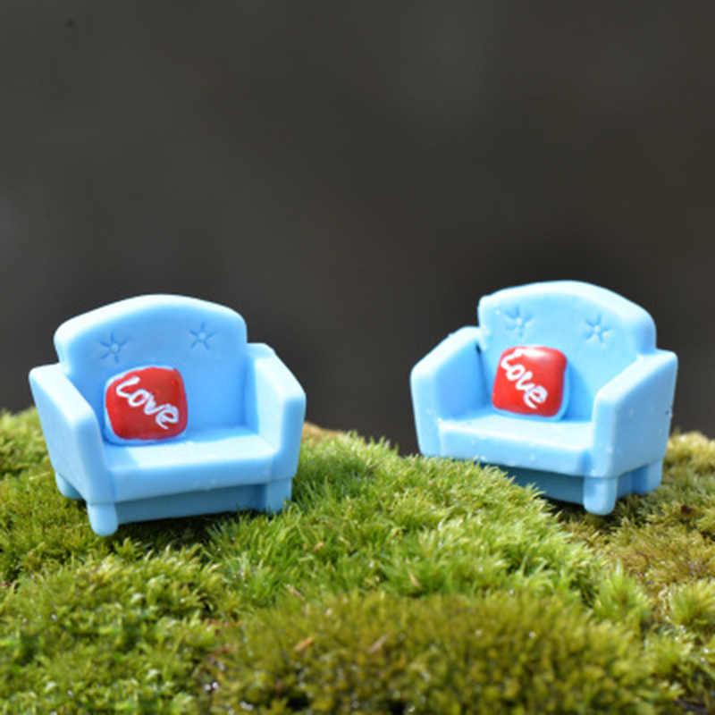 ZOCDOU 1 peça Sofá Sofá Travesseiro Cadeira Fezes Assento Sala De estar Móveis de Pequeno Porte Artesanato Estatueta Ornamento Figura Miniaturas Casa