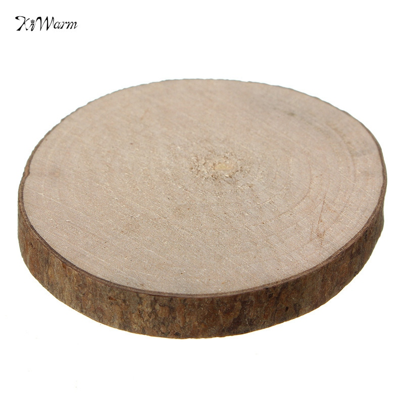 10pcs natural round wood disc slices circle shape rustic for Wood circles for crafts