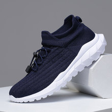 MWY Mens Shoes Casual Outdoor Trainers Zapatos De Hombre Breathable Comfortable Sneakers Men Knitted Loafers Walking Shoes