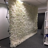 New Arrival 240x240cm Upscale Hydrangea Flower Wall Set with Stand DIY Wedding Background Decorations Free Delivery