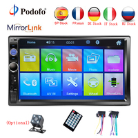 Podofo Autoradio 2 din Car Radio 7 HD Touch Screen Multimedia MP5 Player 2DIN Auto audio Car Stereo Bluetooth USB TF FM Camera