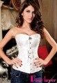 Acquard tecido com textura luxuosa e elegante design Luxuoso Pteris Jacquard Corset Branco/Preto Sexy Lace up não com g-corda