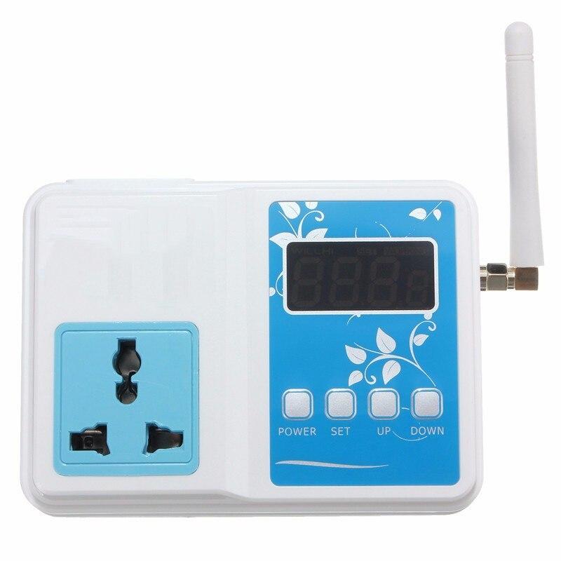 AC 220V 110V Digital WIFI F Temperature Controller Socket Remote Thermostat Time Delay Starting Function Adjustable 0-30 Minutes