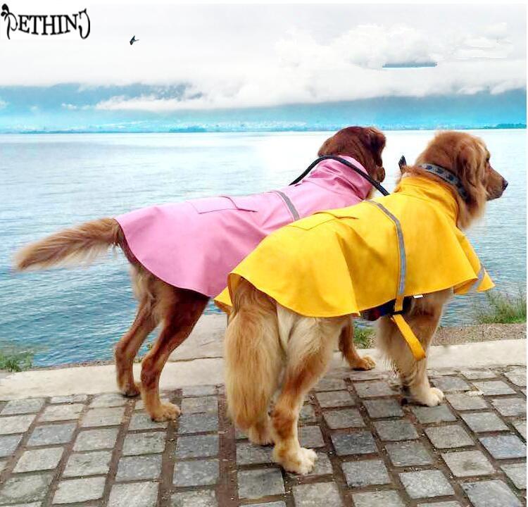 large dog XS 4XL dog jacket for rain dog coat Leisure pet clothes dog raincoat