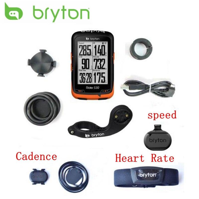 Bryton Rider 530 Vélo GPS Compatible Vélo/ordinateur De Vélo Étanche sans fil compteur de vitesse avec le mont avec cadence coeur taux