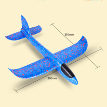 35cm Hand Launch Throwing Glider Aircraft Plane Model EPP Airplane foam Toys for Children Plane Foam Toy Model Drop Shipping