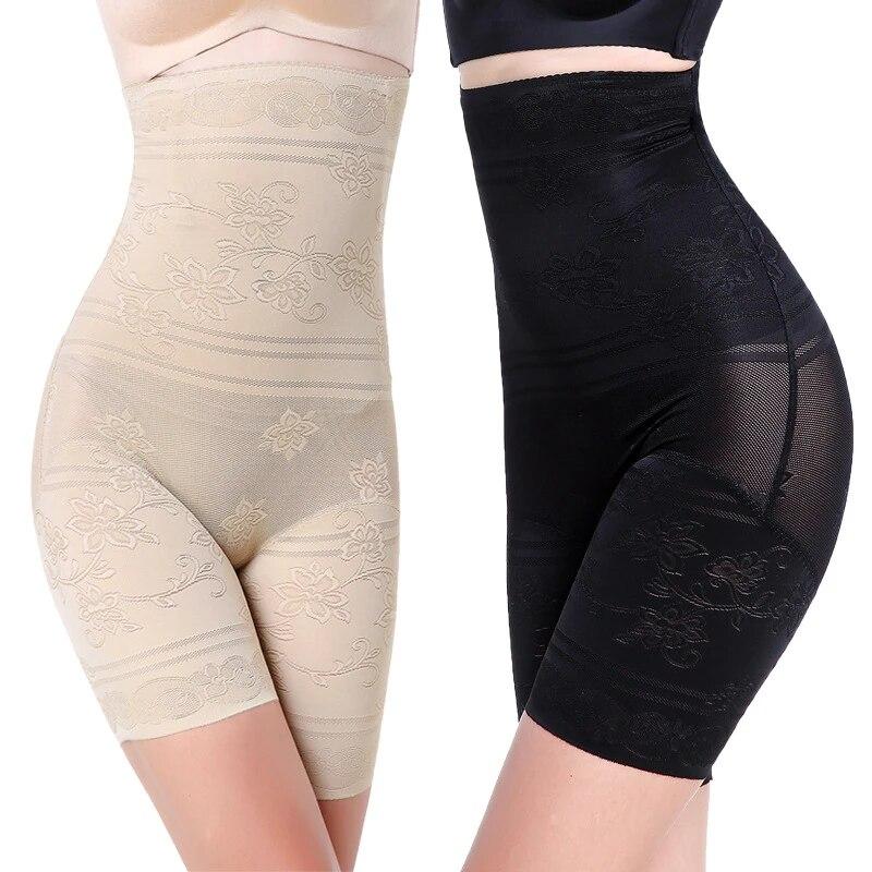 Womens Plus Size Tummy Tucker High Waist Shorts Slimming Shaperwear for Ladies