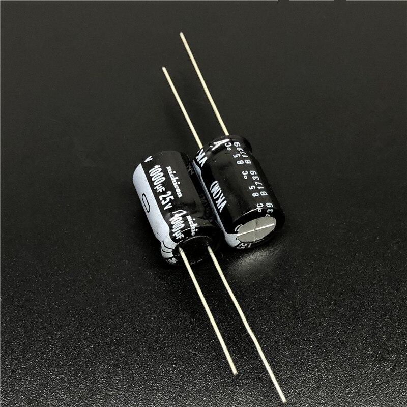 10pcs/100pcs 1000uF 25V NICHICON VK Series 10x16mm 25V1000uF Small Size High Quality Aluminum Electrolytic Capacitor