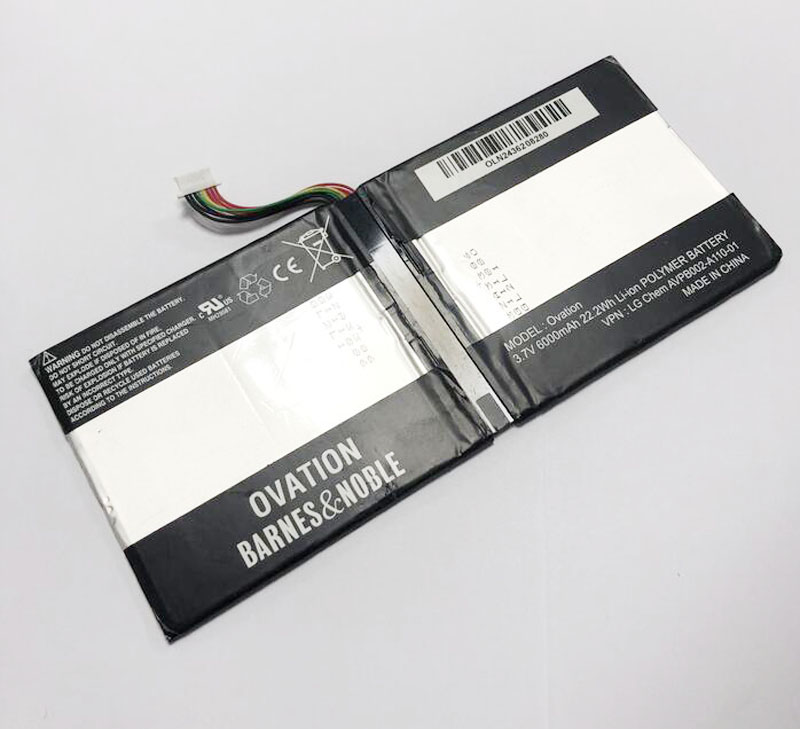BNTV600 AVPB002-A110-01 P//N AVPB00 6000mAh Replacement for Barnes /& Noble Ovation Battery