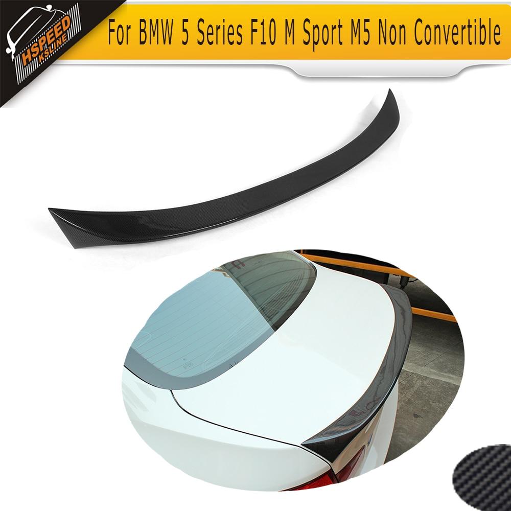 5 Series Carbon Fiber Rear Trunk Boot Lip Spoiler wing for BMW F10 M Sport M5 2012-2016 Non Convertible 525i 528i 535i 550i5 Series Carbon Fiber Rear Trunk Boot Lip Spoiler wing for BMW F10 M Sport M5 2012-2016 Non Convertible 525i 528i 535i 550i