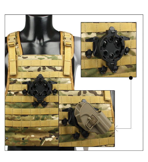 Hunting tactical holster platforms mount your holster at any of the 360 degree angles Free shipping