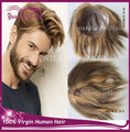 Hot Selling! light brown color virgin indian hair full lace base with pu around toupee for men free shipping