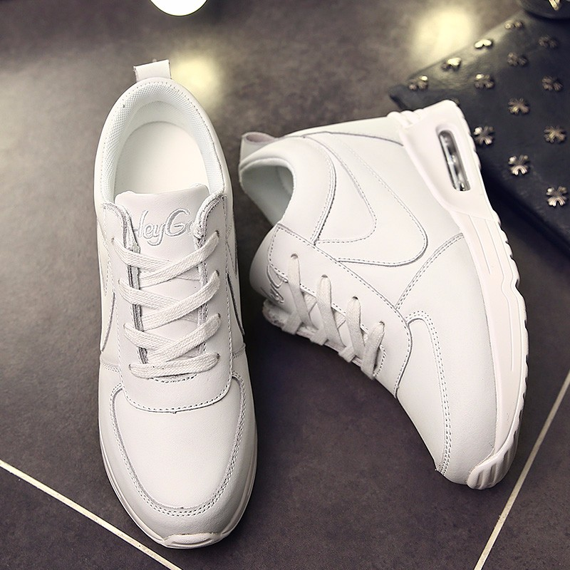 Height Increasing Casual Women Shoes 2016 Fashion Autumn PU Leather High Top Wedges Casual Shoes Lace Up Ladies Shoes YD139 (13)