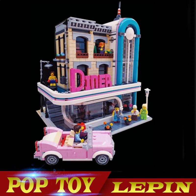 15037 Genuine 2778Pcs Streetview Series Downtown Diner Set 10260 LEPIN Building Blocks Bricks Funny Toys Gifts купальник sherman sm15037 15037