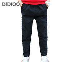 Teenagers Pants For Boys School Clothes Cotton Casual Harem Trousers 4 5 7 9 11 13