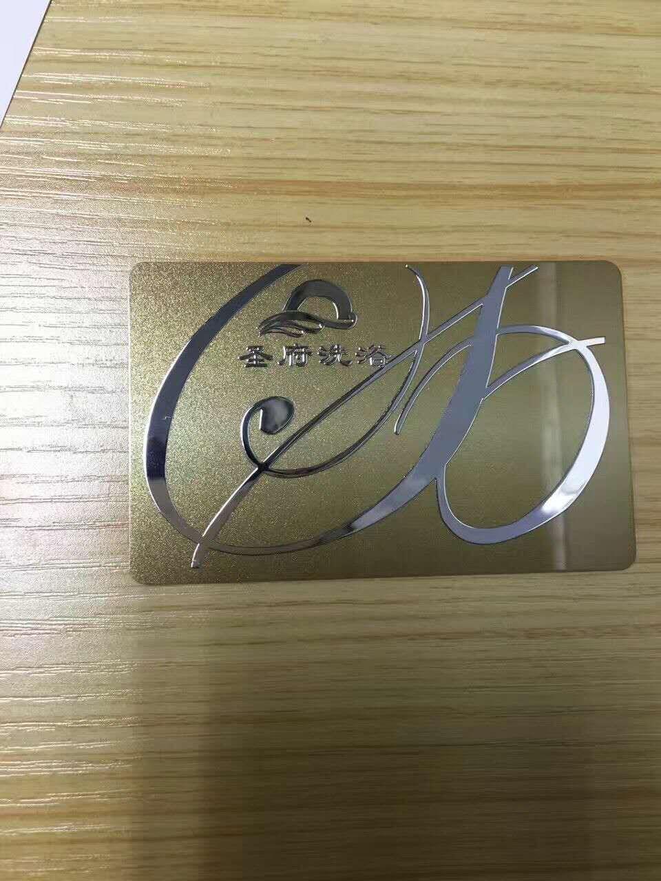 Super slanke Metalen 3M lijm label elektrovorming logo aangepaste hollow out een ontwerp metalen sticker voor visitekaartje - 1