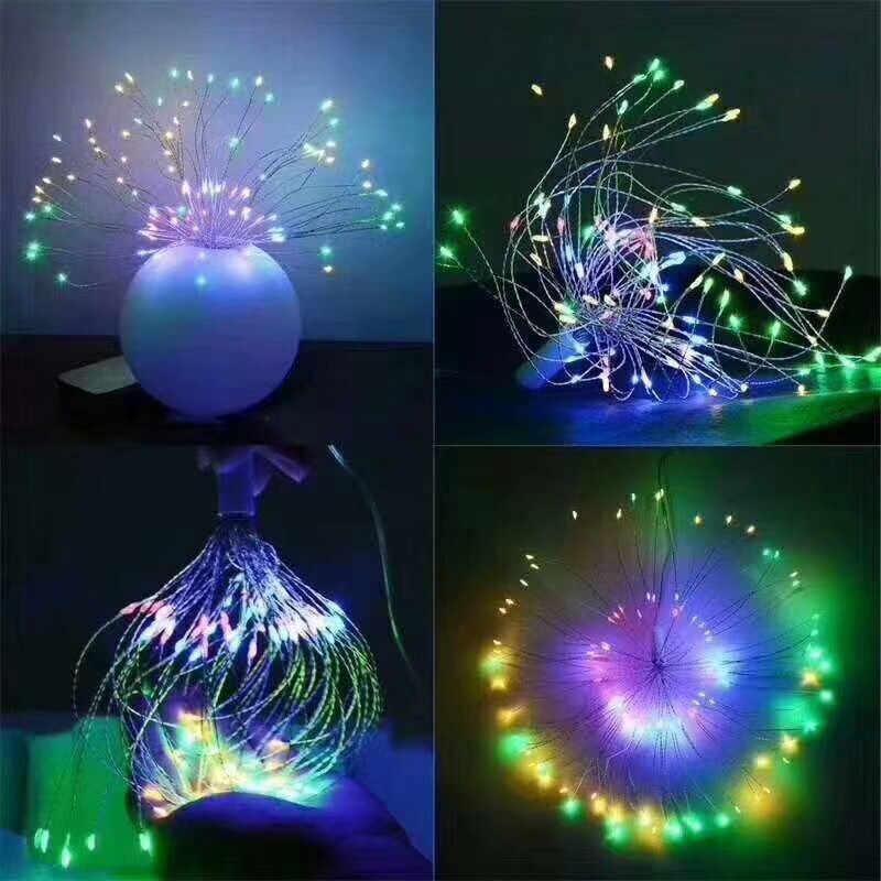 タンポポストリングライト、 LED 花火銅ストリングライトブーケの形マイクロライト Diy のウェディングセンターピースの装飾