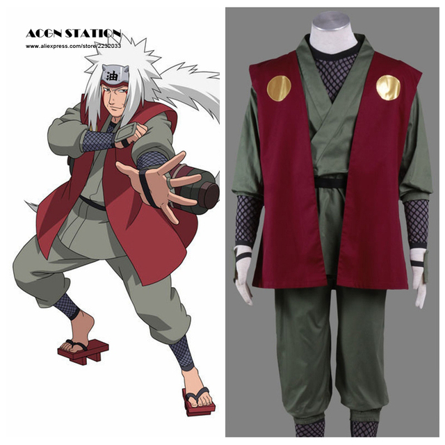 2018 Free Shipping Adult Kid 2016 Top Selling NARUTO Anime Cosplay JIRAIYA  Halloween Costume Customize for