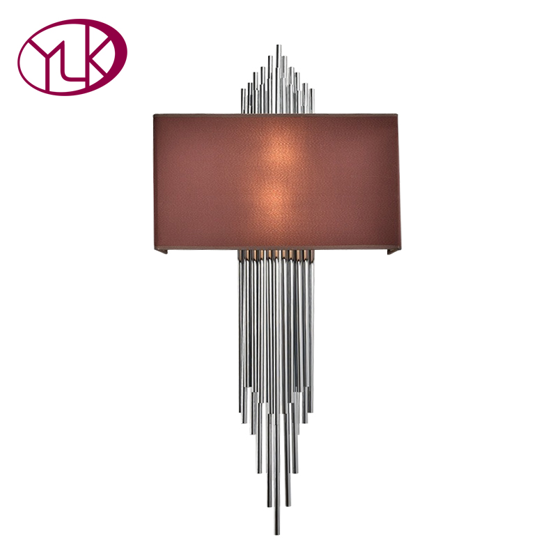 Youlaike New Modern Wall Lamp Gold Chrome LED Wall Sconce Light Home Decoration Indoor Lighting Fixture