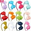11 ЦВЕТА Милые Девушки Hairband Сплошной Ленты Hairbow Ленты Для Волос Для Новорожденных Ленты Лентой Детские Аксессуары Для Волос 3 Шт./лот CNHB-1307282