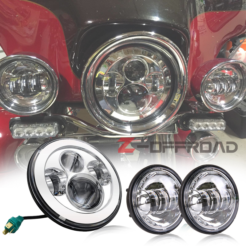 Aliexpress Com Buy For Road King Head Lights 7 Quot Led H4