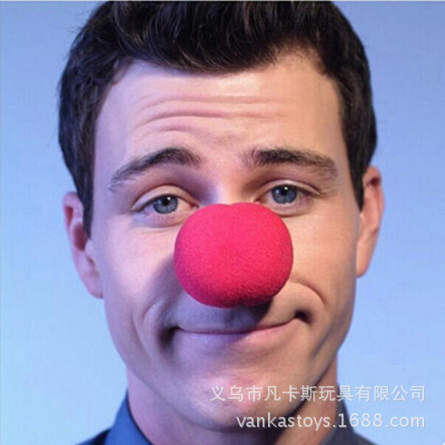 Fun Red Nose Foam Circus Clown Nose Comic Party Supplies Halloween Accessories Costume Magic Dress Party Supplies